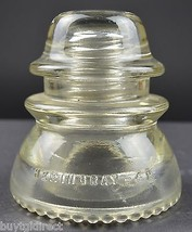 """Vintage Hemingray No. 42 Clear Glass Insulator 4"""" Tall Collectible Decor - $11.99"""