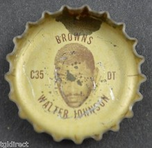 Vintage Coca Cola NFL Bottle Cap Cleveland Browns Walter Johnson Coke Fo... - $4.99