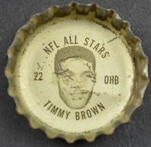 Vintage Coca Cola NFL All Stars Bottle Cap Philadelphia Eagles Timmy Brown Coke - $6.99