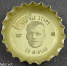 Coca Cola NFL All Stars Coke King Size Bottle Cap Los Angeles Rams Ed Meador - $6.99