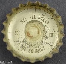 Coca Cola NFL All Stars Bottle Cap Detroit Lions Joe Schmidt King Size Coke Soda - $4.99