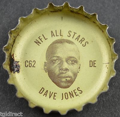 Primary image for Vintage Coca Cola NFL Bottle Cap Los Angeles Rams Dave Jones Coke King Size Soda
