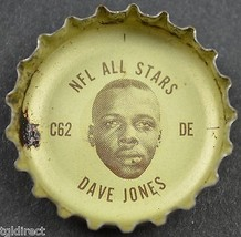 Vintage Coca Cola NFL Bottle Cap Los Angeles Rams Dave Jones Coke King Size Soda - $6.99