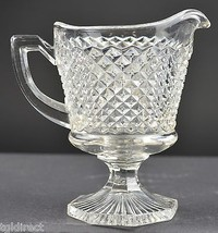 "Vintage Westmoreland Glass English Hobnail Footed Creamer 4.25"" Cream Pi... - $12.99"