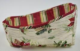 Longaberger 2007 Holiday Helper Basket Liner Holiday Botanical Pattern Accessory - $9.99