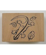 Wood Mounted Rubber Stamp Salamander Collectible Scrapbook envelope Arts... - $7.99
