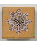 Wood Mounted Rubber Stamp By Comotion Rubber Stamps Snowflake Arts Crafts - $6.99