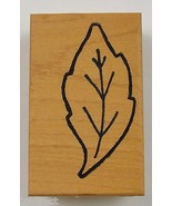 Wood Mounted Rubber Stamp By Mary Annes Leaf Scrapbook Envelope Arts Crafts - $7.99