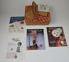 Boyds Bears 2002 Frolickin F O B Collectors Club Picnic Basket Kit Collectible - $44.99