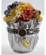 Boyds Bears Resin Treasure Box Flora's Bloomin Bunch Daisy McNibble Mous... - $24.99