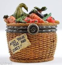 Boyds Bears Tillie's Veggie Basket & Peapod McNibble 1st Edition Treasue Box Art - $24.99