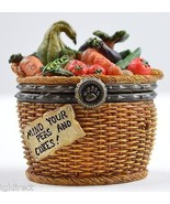 Boyds Bears Tillie's Veggie Basket & Peapod McNibble 1st Edition Treasue... - $24.99
