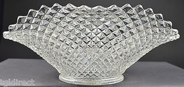"Vintage Westmoreland Glass English Hobnail Crimped Oval Bowl 12"" L Collectible - $34.99"