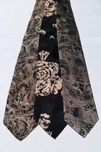 Lot of 3 Men's Ties Paisley Geoffrey Beene Palazzi Black Gold Tan Silk Poly NWOT - $24.99