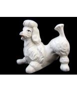 Poodle Dog Figurine Statue Playful White Vintage - $24.95