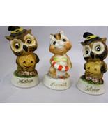 Owl Figurine October Halloween Lot of 2 + Chipmunk - $24.95