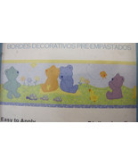 Carter's Child of Mine Wall Border Teddy Bear Friends Pastels Blue Purpl... - $15.50