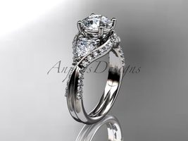 Unique 14kt white gold diamond wedding ring, engagement ring ADLR319 - $2,225.00
