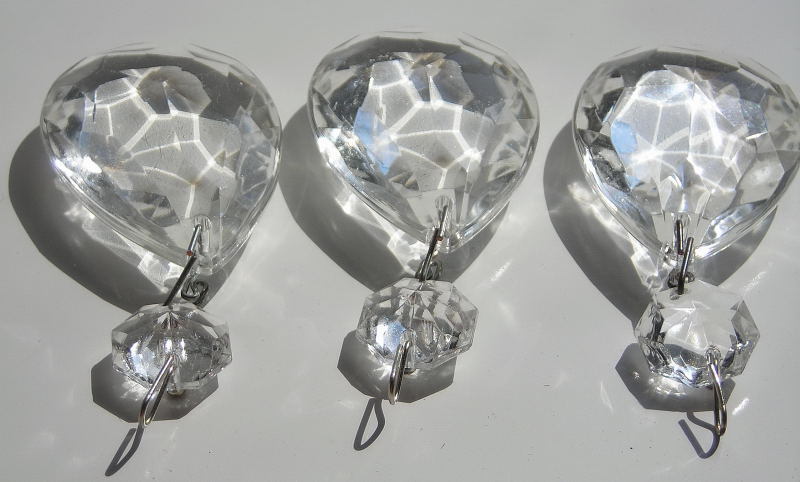 Three Xl Clear Teardrop Glass Chandelier And Similar Items - Chandelier crystals for crafts