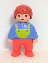 Playmobil 123 Boy Figure Child Preschool Toy Red Hair 1990 Family 6630 - $2.90