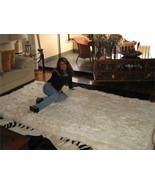 White peruvian baby alpaca fur rug, 300 x 280 cm/ 9'84 x 9'18 - $2,204.00