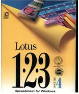Lotus 123 Spreadsheet for Windows Release 4 (3.5 Inch discs only) (DOS 3... - $59.39
