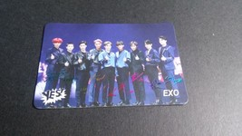 EXO 9-member printed autographs 1 group card KPOP   - $7.70