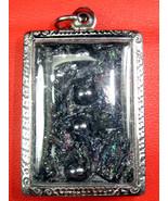 Very Rare!  Holy Lek-Lai Metal Charm Sai-Rung Pendant Top Thai Buddha Am... - $19.99