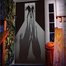 Walking Dead ZOMBIE VISITORS DOOR COVER Wall Mural Haunted House Prop De... - $3.93