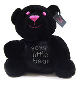 Victorias Secret Sexy Little Bear Limited Edition Plush Black Pink Eyes/... - $9.99