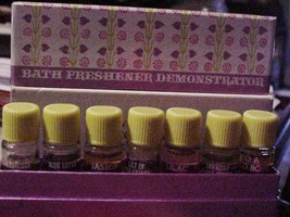 Vintage AVON Fragrances Demonstrator No.2 Bath Freshener 7 Mini Bottles ... - $19.75