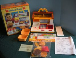 Vintage Fisher Price Fun with Food #2119 McDonald's Cooking Center with ... - $120.00