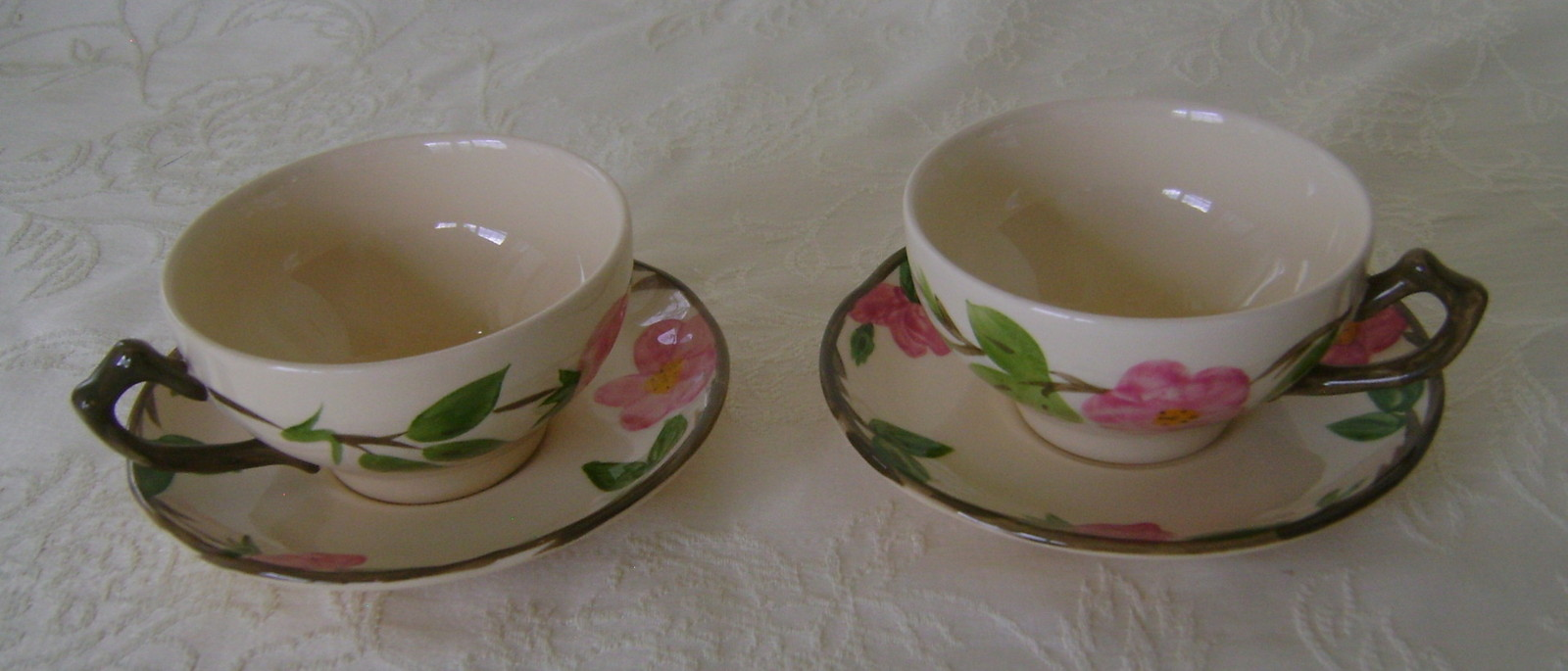 Franciscan Desert Rose Cup/Saucer Excellent Condition, Made in England, Set of 2