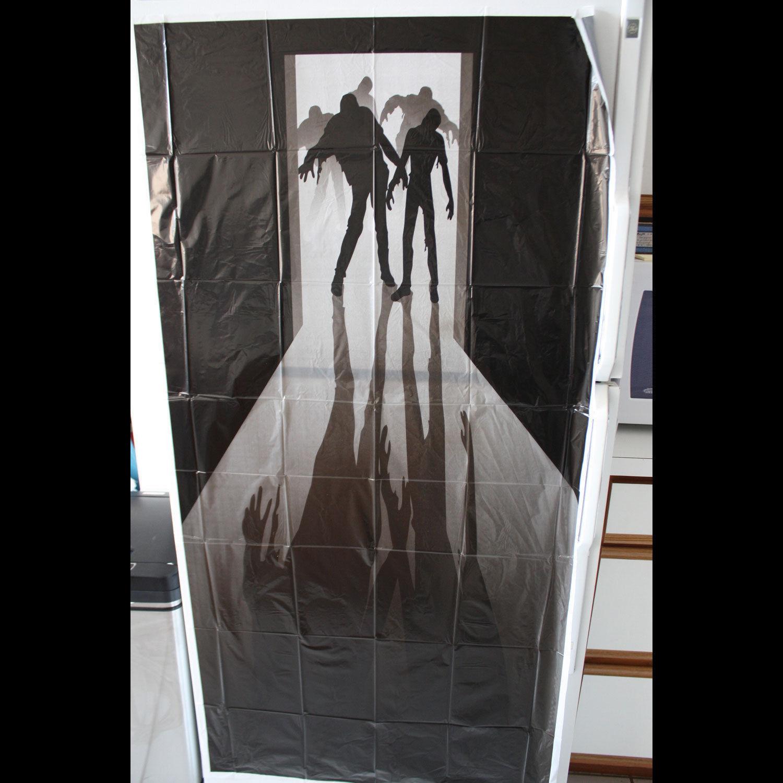 Mural Walking Dead Of Walking Dead Zombie Visitors Door Cover Wall Mural Haunted