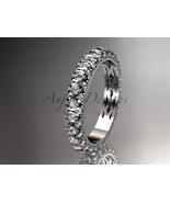 Unique wedding ring,14kt white gold diamond wedding band, eternity ring ... - $1,425.00