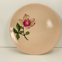 """Vintage Crooksville Pink Magnolia Flower Bread and Butter Plate 6"""" Round - $14.95"""