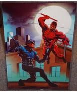 Nightwing vs Daredevil Glossy Print 11 x 17 In Hard Plastic Sleeve  - $24.99