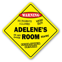 ADELENE'S ROOM SIGN kids bedroom decor door chi... - $8.44