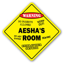 AESHA'S ROOM SIGN kids bedroom decor door child... - $8.44