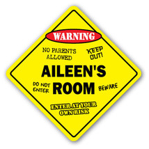 AILEEN'S ROOM SIGN kids bedroom decor door chil... - $8.44