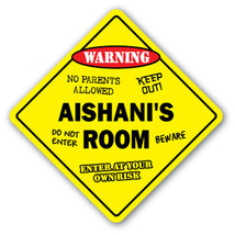 AISHANI'S ROOM SIGN kids bedroom decor door chi... - $8.44