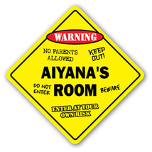 AIYANA'S ROOM SIGN kids bedroom decor door chil... - $8.44