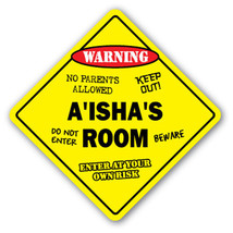 AISHA'S ROOM SIGN kids bedroom decor door child... - $8.44