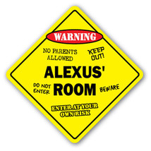 ALEXUS' ROOM SIGN kids bedroom decor door child... - $8.44