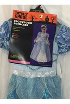 Storybook Princess Girls Costume Cinderella Blue Size Small Disney Bucket - $25.04