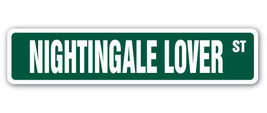 NIGHTINGALE LOVER Street Sign bird nature song ... - $8.44