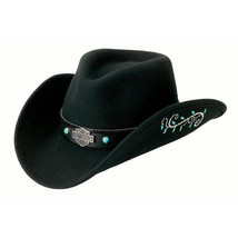 Harley Davidson Crushable Water Resistant Cowboy Hat - Turquoise Colored... - $69.00