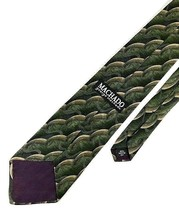 New GEORGE MACHADO TIE Olive & Tan Silk Men's Neck Tie - $24.95