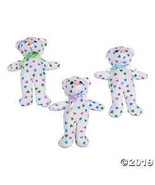 Stuffed Teddy Bears with Pastel Hearts - $21.99