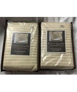 NWT Bed Bath & Beyond Classic Coverlet Two Standard Shams Beige Taupe 20... - $30.00